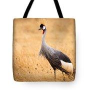 Gray Crowned Crane Tote Bag