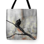 Gray Day Vulture Tote Bag