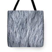 Gray Fake Fur Horizontal Tote Bag