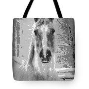 Gray Horse Tote Bag