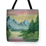 Gray Mountains Tote Bag