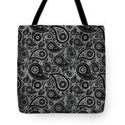 Gray Paisley Design Tote Bag