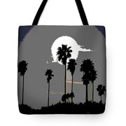 Gray Palms Tote Bag
