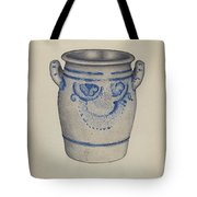 Gray Pottery Jar Tote Bag
