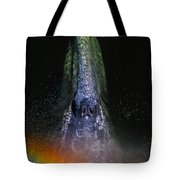Gray Rainbow Tote Bag