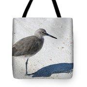 Gray Sandpiper On White Beach Tote Bag