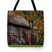 Gray Weathered Barns Number Three Tote Bag