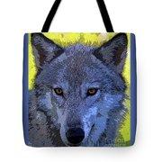 Gray Wolf Portrait Tote Bag