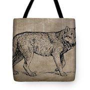 Gray Wolf Timber Wolf Western Wolf Woods Texture Tote Bag