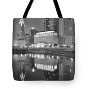 Grayscale Columbus Tote Bag