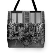 Grayscale Foliage Tote Bag