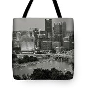 Grayscale Pittsburgh Tote Bag
