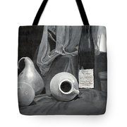 Grayscale Still Life Tote Bag
