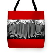Grayscale Swollen Icicles Tote Bag