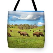 Grazing Buffalo Tote Bag