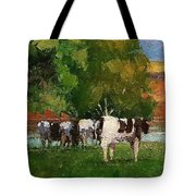 Grazing By Our Creek Tote Bag