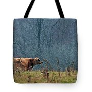 Grazing In Winter Tote Bag