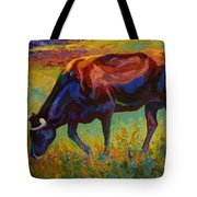 Grazing Texas Longhorn Tote Bag