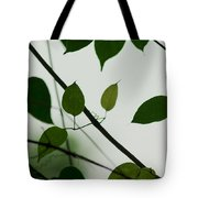 Green Leaves 2 Tote Bag