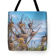 Great Black Cormorants Colony - Danube Delta Tote Bag