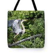 Great Blue Ballet Tote Bag