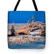 Great Blue Driftwood Tote Bag