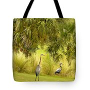 Great Blue Golfing Tote Bag