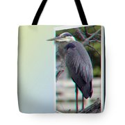 Great Blue Heron - Red-cyan 3d Glasses Required Tote Bag