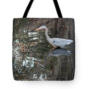 Great Blue Heron And Reflection IIi Tote Bag