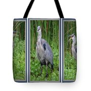 Great Blue Heron Collage Tote Bag