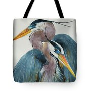 Great Blue Heron Couple Tote Bag by Jani Freimann