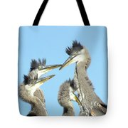 Great Blue Heron Discussion Tote Bag