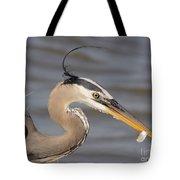Great Blue Heron Gets Twofer Tote Bag