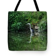 Great Blue Heron Hunting Fish Tote Bag