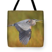 Great Blue Heron In Flight Tote Bag by Bruce J Robinson