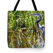 Great Blue Heron In The Wetlands Tote Bag