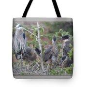 Great Blue Heron Nest Tote Bag