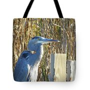 Great Blue Heron On Guard Tote Bag