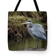 Great Blue Heron On The Watch Tote Bag