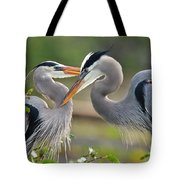 Great Blue Heron Pair 3 Tote Bag