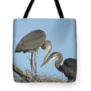 Great Blue Heron Pair Tote Bag