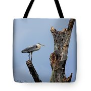 Great Blue Heron Perched Tote Bag