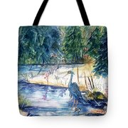 Great Blue Heron Square Cropped  Tote Bag