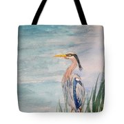 Great Blue Heron Two Tote Bag