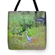 Great Blue Heron Visitor Tote Bag