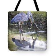 Great Blue Heron Vs Huge Frog Tote Bag