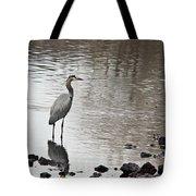 Great Blue Heron Wading 2 Tote Bag