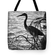 Great Blue In Black And White Tote Bag
