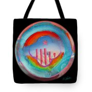 Great Blue Morning Tote Bag