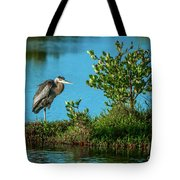 Great Blue On One Leg Tote Bag